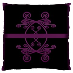 Ornament Pink & Black Large Cushion Case (two Sides) by displaydezign