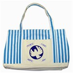 Peace tote bag - Striped Blue Tote Bag