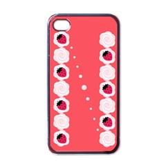 Cake Top Rose Apple Iphone 4 Case (black) by strawberrymilk