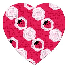 Cake Top Pink Jigsaw Puzzle (heart) by strawberrymilk