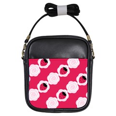 Cake Top Pink Girls Sling Bag by strawberrymilk