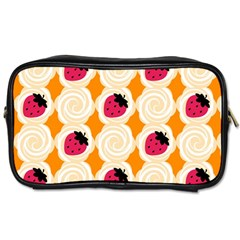 Cake Top Orange Toiletries Bag (two Sides)