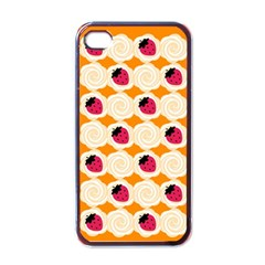 Cake Top Orange Apple Iphone 4 Case (black) by strawberrymilk