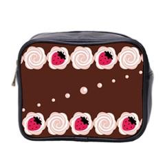 Cake Top Choco Mini Toiletries Bag (two Sides) by strawberrymilk