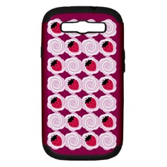 Cake Top Grape Samsung Galaxy S Iii Hardshell Case (pc+silicone) by strawberrymilk