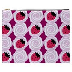 Cake Top Grape Cosmetic Bag (xxxl) by strawberrymilk