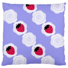 Cake Top Blueberry Large Cushion Case (two Sides) by strawberrymilk