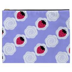 Cake Top Blueberry Cosmetic Bag (xxxl) by strawberrymilk