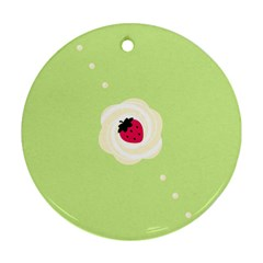 Cake Top Lime Ornament (round)