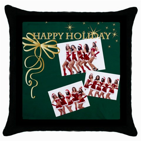 Merry Christmas By Angena Jolin   Throw Pillow Case (black)   Gpbarf17mbii   Www Artscow Com Front