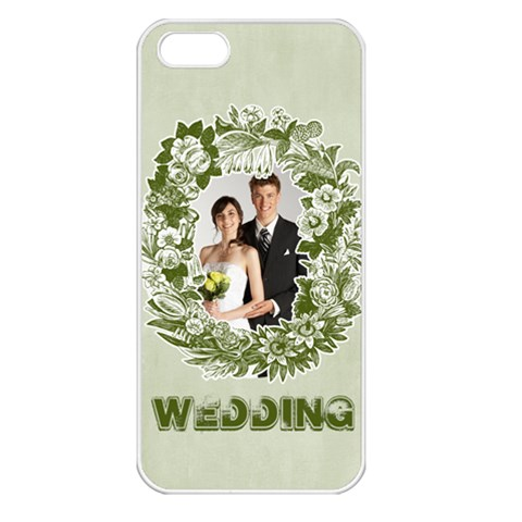 Wedding By Paula Green   Apple Iphone 5 Seamless Case (white)   4se9hybjeywh   Www Artscow Com Front