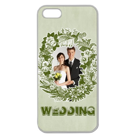 Wedding By Paula Green   Apple Seamless Iphone 5 Case (clear)   7oujqp0n654i   Www Artscow Com Front