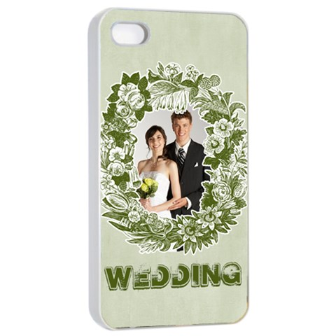 Wedding By Paula Green   Apple Iphone 4/4s Seamless Case (white)   Wx2t4stpy8b4   Www Artscow Com Front