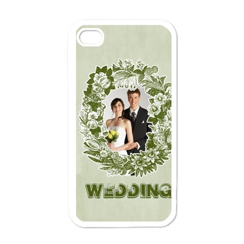 Wedding By Paula Green   Apple Iphone 4 Case (white)   95kwzsuj8m5r   Www Artscow Com Front