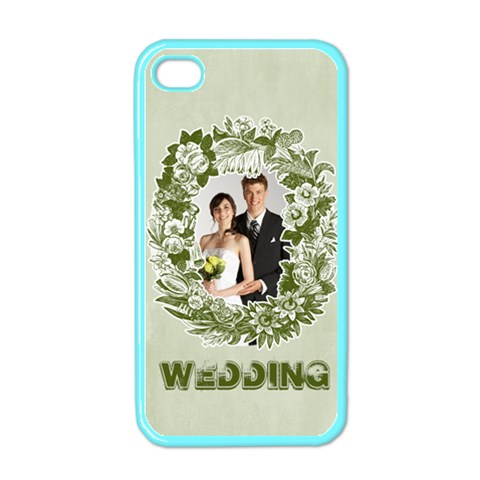 Wedding By Paula Green   Apple Iphone 4 Case (color)   O9uarbxdf24f   Www Artscow Com Front