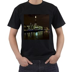 The Shard And Southbank London Black Mens'' T Shirt by Londonimages