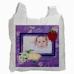 Happy Birthday By Betty   Recycle Bag (two Side)   Esev4c1tf3ub   Www Artscow Com Front