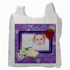 Happy Birthday By Betty   Recycle Bag (two Side)   Esev4c1tf3ub   Www Artscow Com Back