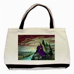 Jesus Overlooking Jerusalem By Ave Hurley  Twin Sided Black Tote Bag by ArtRave2