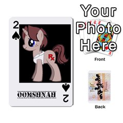 D C  Brony Oc Playing Cards By John H Rhodes Jr    Playing Cards 54 Designs   G5v18ymuvsx5   Www Artscow Com Front - Spade2