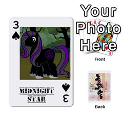 D C  Brony Oc Playing Cards By John H Rhodes Jr    Playing Cards 54 Designs   G5v18ymuvsx5   Www Artscow Com Front - Spade3
