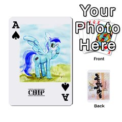 Ace D C  Brony Oc Playing Cards By John H Rhodes Jr    Playing Cards 54 Designs   G5v18ymuvsx5   Www Artscow Com Front - SpadeA