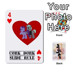 D C  Brony Oc Playing Cards By John H Rhodes Jr    Playing Cards 54 Designs   G5v18ymuvsx5   Www Artscow Com Front - Heart4
