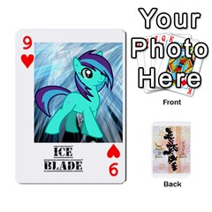 D C  Brony Oc Playing Cards By John H Rhodes Jr    Playing Cards 54 Designs   G5v18ymuvsx5   Www Artscow Com Front - Heart9