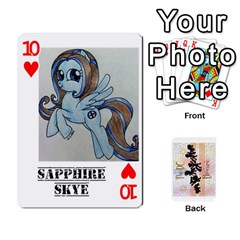 D C  Brony Oc Playing Cards By John H Rhodes Jr    Playing Cards 54 Designs   G5v18ymuvsx5   Www Artscow Com Front - Heart10