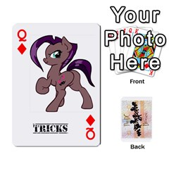 Queen D C  Brony Oc Playing Cards By John H Rhodes Jr    Playing Cards 54 Designs   G5v18ymuvsx5   Www Artscow Com Front - DiamondQ