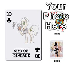 D C  Brony Oc Playing Cards By John H Rhodes Jr    Playing Cards 54 Designs   G5v18ymuvsx5   Www Artscow Com Front - Club10