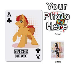 Ace D C  Brony Oc Playing Cards By John H Rhodes Jr    Playing Cards 54 Designs   G5v18ymuvsx5   Www Artscow Com Front - ClubA