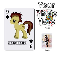 D C  Brony Oc Playing Cards By John H Rhodes Jr    Playing Cards 54 Designs   G5v18ymuvsx5   Www Artscow Com Front - Spade9