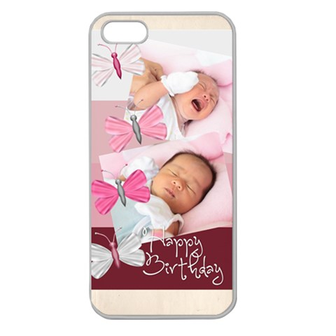 Happy Birthday By Happy Birthday   Apple Seamless Iphone 5 Case (clear)   Qcy69af0yqm3   Www Artscow Com Front
