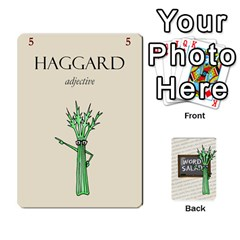 Word Salad, 1/2 By Ian   Playing Cards 54 Designs   Pzll5thzft95   Www Artscow Com Front - Club4