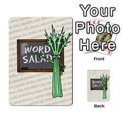 Word Salad, 1/2 By Ian   Playing Cards 54 Designs   Pzll5thzft95   Www Artscow Com Back