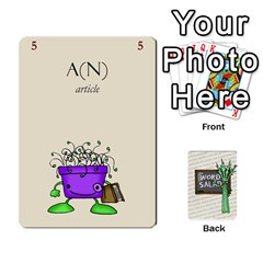 Word Salad, 2/2 By Ian   Playing Cards 54 Designs   Q5r1duuuk23y   Www Artscow Com Front - Diamond7