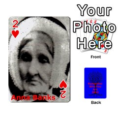Ancestor Cards W/ Everyone By Darin Kerr   Playing Cards 54 Designs   15zv6fcny6zl   Www Artscow Com Front - Heart2