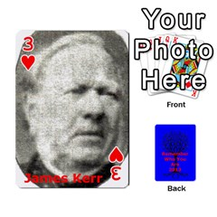 Ancestor Cards W/ Everyone By Darin Kerr   Playing Cards 54 Designs   15zv6fcny6zl   Www Artscow Com Front - Heart3
