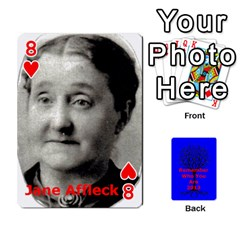 Ancestor Cards W/ Everyone By Darin Kerr   Playing Cards 54 Designs   15zv6fcny6zl   Www Artscow Com Front - Heart8