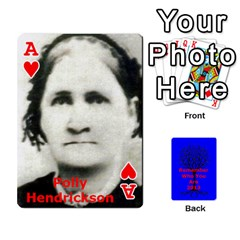Ace Ancestor Cards W/ Everyone By Darin Kerr   Playing Cards 54 Designs   15zv6fcny6zl   Www Artscow Com Front - HeartA