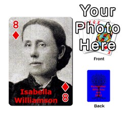 Ancestor Cards W/ Everyone By Darin Kerr   Playing Cards 54 Designs   15zv6fcny6zl   Www Artscow Com Front - Diamond8