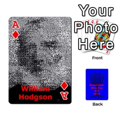 Ace Ancestor Cards W/ Everyone By Darin Kerr   Playing Cards 54 Designs   15zv6fcny6zl   Www Artscow Com Front - DiamondA