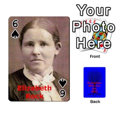 Ancestor Cards W/ Everyone By Darin Kerr   Playing Cards 54 Designs   15zv6fcny6zl   Www Artscow Com Front - Spade6