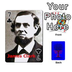 Ancestor Cards W/ Everyone By Darin Kerr   Playing Cards 54 Designs   15zv6fcny6zl   Www Artscow Com Front - Club7
