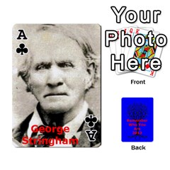 Ace Ancestor Cards W/ Everyone By Darin Kerr   Playing Cards 54 Designs   15zv6fcny6zl   Www Artscow Com Front - ClubA
