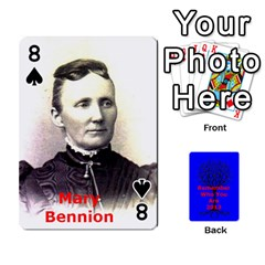 Ancestor Cards W/ Everyone By Darin Kerr   Playing Cards 54 Designs   15zv6fcny6zl   Www Artscow Com Front - Spade8