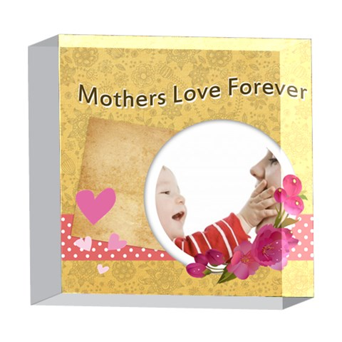 Mothers Day By Joely   5  X 5  Acrylic Photo Block   E9tgwjhyabod   Www Artscow Com Front