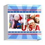 usa - 5  x 5  Acrylic Photo Block