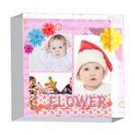 flower kids - 5  x 5  Acrylic Photo Block